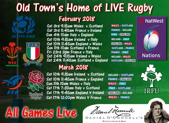 6 nations_poster view six nations live at danieloconnells King Street alexandria